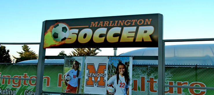 Marlington Soccer Stadium Senior Banners
