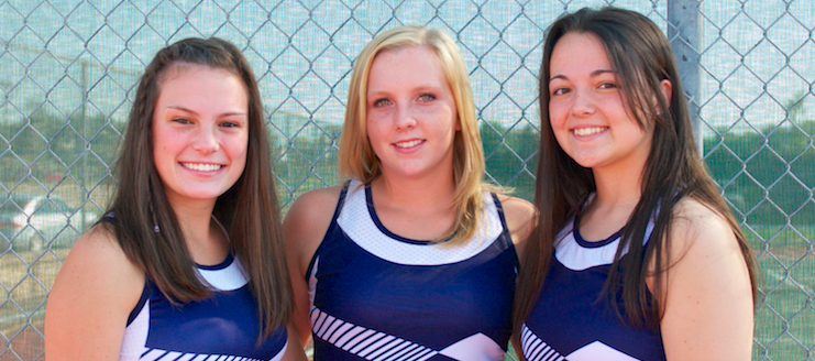 Louisville Leopards Girls Tennis Senior Night 2015 Francie Zwick, Jozie Scott, & Jessica Nyland