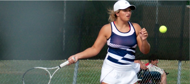 Caitlin Kerzan Louisville Leopards Tennis 2015