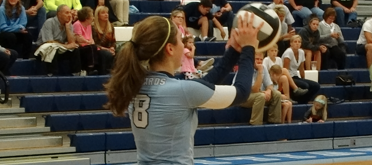 Paige Haren Louisville Leopards Volleyball 2015 Vs. West Branch Warriors