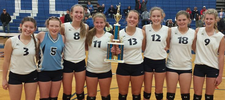 Louisville Leopards Freshman Volleyball Lake Invitational Champions 2015