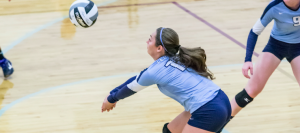 Volleyball Dominates in League Opener at Salem
