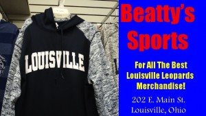 Beatty's Blue Louisville Hoodie Winter 2015 with White Sleeves