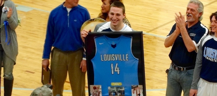 Drew Noble Louisville Leopards Basketball All-Time Leading Scorer Presentation