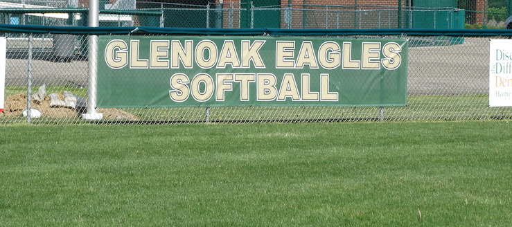 GlenOak Golden Eagles Softball Field Fence Banner