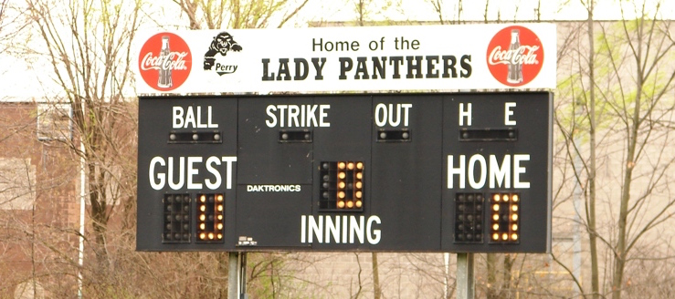 Perry Panthers Softball Scoreboard