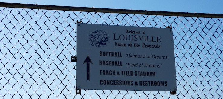 Louisville Leopards Spring Sports Complex Sign