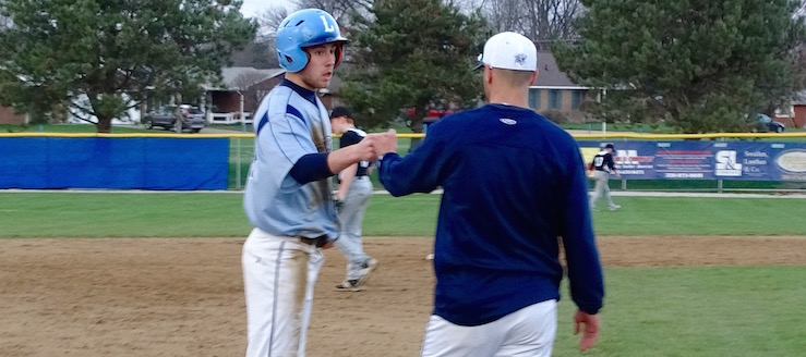Nick Harsh and Head Coach Brian Warner Louisville Leopards Baseball 2016
