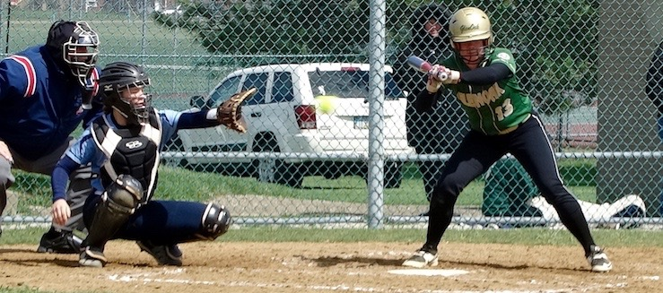 Kaycee Ollis Louisville Leopards Softball Catcher Vs. GlenOak Golden Eagles 2016