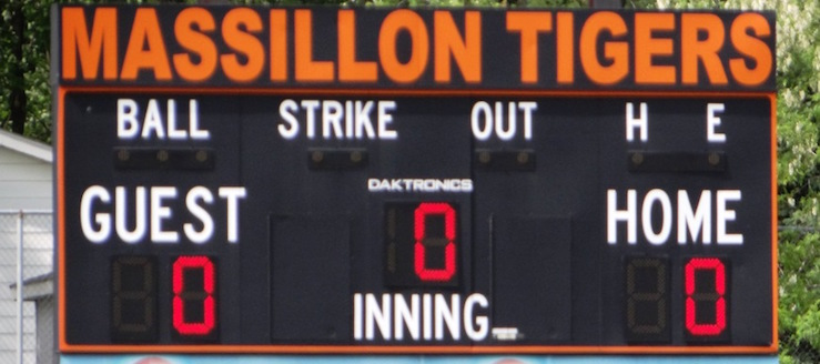Massillon Tigers Softball Scoreboard