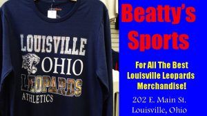 Beatty's Sports Louisville Ohio Leopards Athletics Navy Blue Shirt