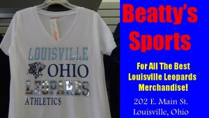Beatty's Sports Louisville Ohio Leopards Athletics White Shirt