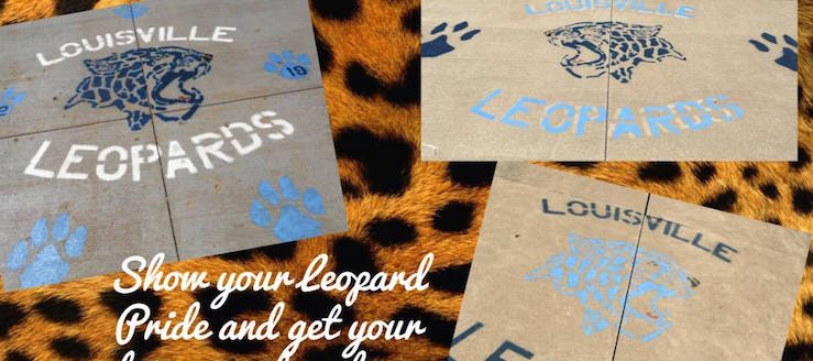 Louisville Leopards Cheerleading 2016 Fundraiser Driveway Painting