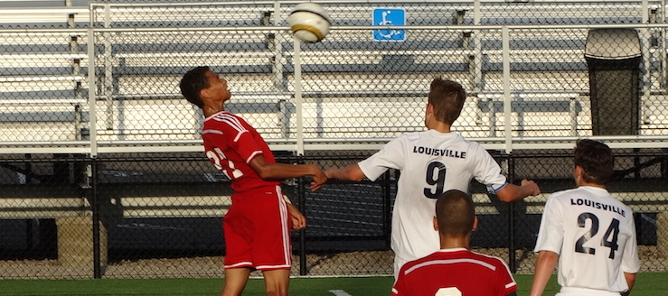 Alex Stefanik Louisville Leopards Vs. Northwest Indians Boys Soccer Scrimmage 8-10-2016