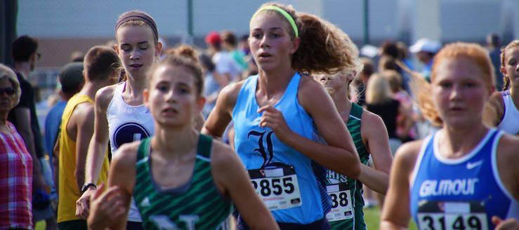 Kayla Gibson Louisville Leopards Girls Cross Country 2016 at GlenOak Invitational