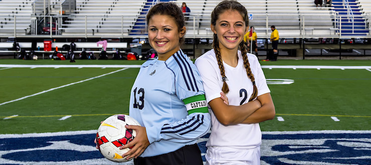 Celia Keefe & Madison Novosel Louisville Leopards Girls Soccer Senior Night 2016