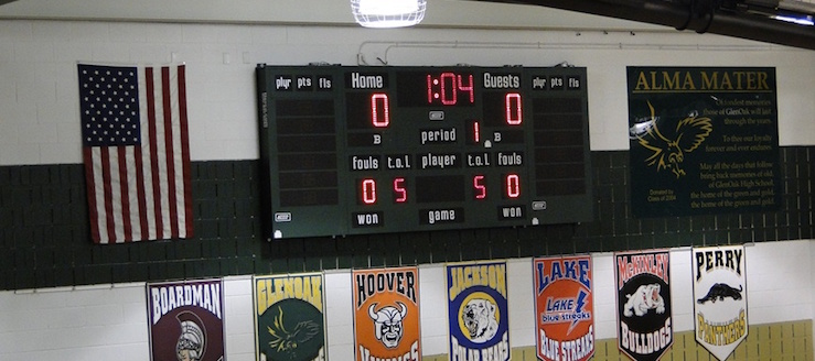 GlenOak Golden Eagles Basketball Scoreboard