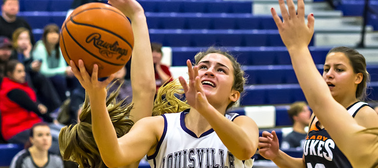 Ellie Jackson Louisville Leopards Girls Basketball Vs. Marlington Dukes