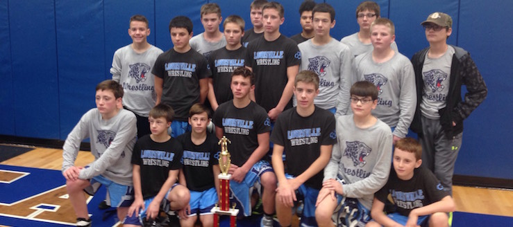 Lake Christmas Duals 2016 Champions - Louisville Leopards Middle School Wrestling