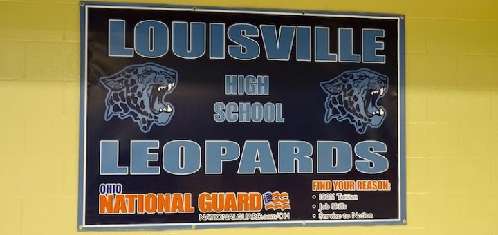 Louisville Leopards High School National Guard Banner