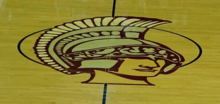 Boardman Spartans Center Court Logo in Basketball Gym