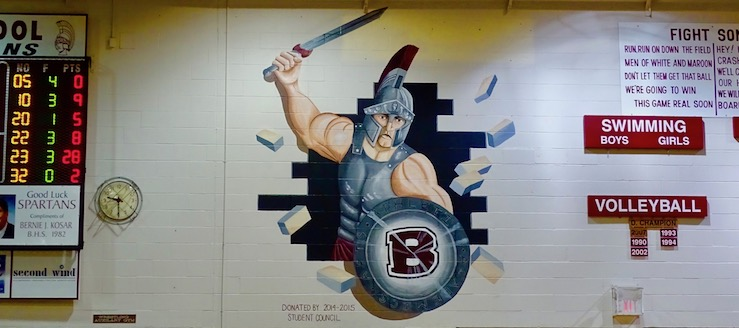 Boardman Spartans Gym Wall Painting