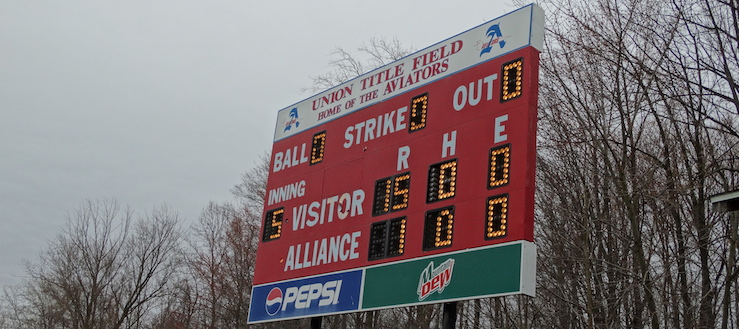 Alliance Aviators Softball Scoreboard - Union Title Field