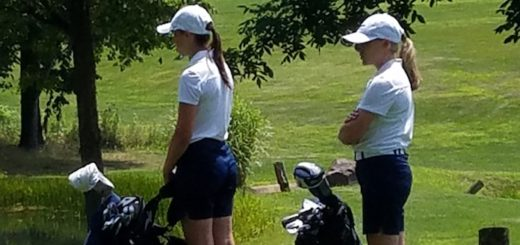 Alexis Beaver and Karli Redinger Louisville Leopards Girls Golf at Spring Hill