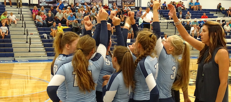 Louisville Leopards Volleyball 2017 Fists Held High