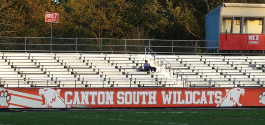 Clyde Brechbuhler Stadium Canton South Wildcats Sideline Wrap