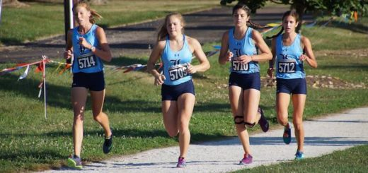 Morgan Cole and Cassidy Kiko Louisville Leopards Cross Country at Malone Invitational 2017