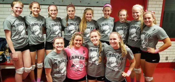 Louisville Leopards Volleyball Block Out Cancer Match 2017