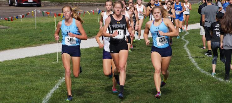 Morgan Cole and Cassidy Kiko Louisville Leopards Girls Cross Country at District Meet 2017