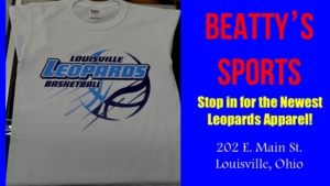 Louisville Leopards Basketball White Shirt - Beatty's Sports Christmas 2017