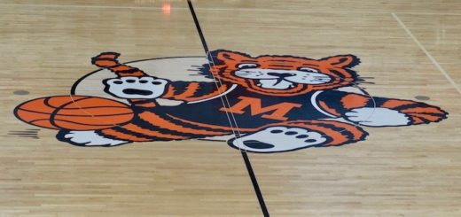 Massillon Tigers Center Court Obie Logo at Washington High School Gym