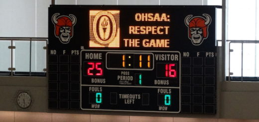 North Canton Hoover Vikings Gym Scoreboard with Graphics