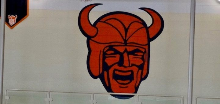 North Canton Hoover Vikings Logo in Gym