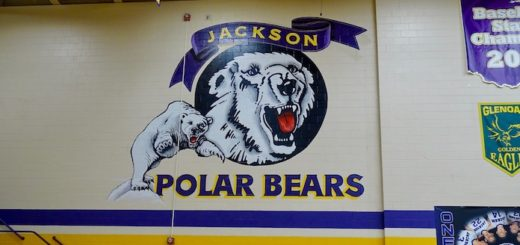 Jackson Polar Bears Gym Logo Painting