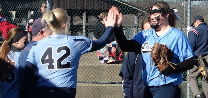 Rylie Squire and Sarah Cantley Louisvile Leopards Softball 2016