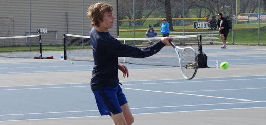 Seth Gronow Louisville Leopards Boys Tennis 2018 Vs. Marlington Dukes