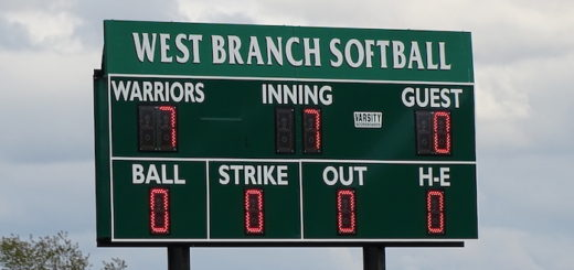 West Branch Warriors Softball New Scoreboard 2017