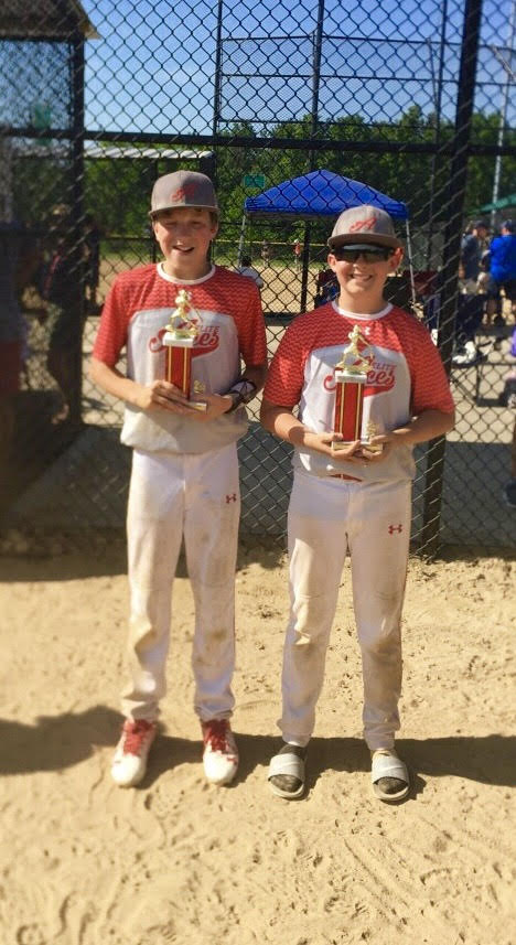Connor Morley and Will Aljancic Aces Elite 13U Baseball Strongsville Memorial Day Classic Runner-Up