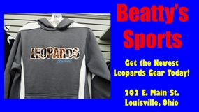 Beatty's Sports Leopard Skin Grey Hoodie